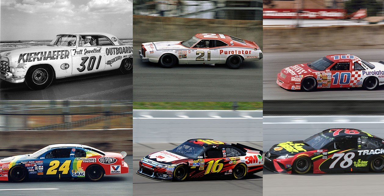 Generations of NASCAR Racecars