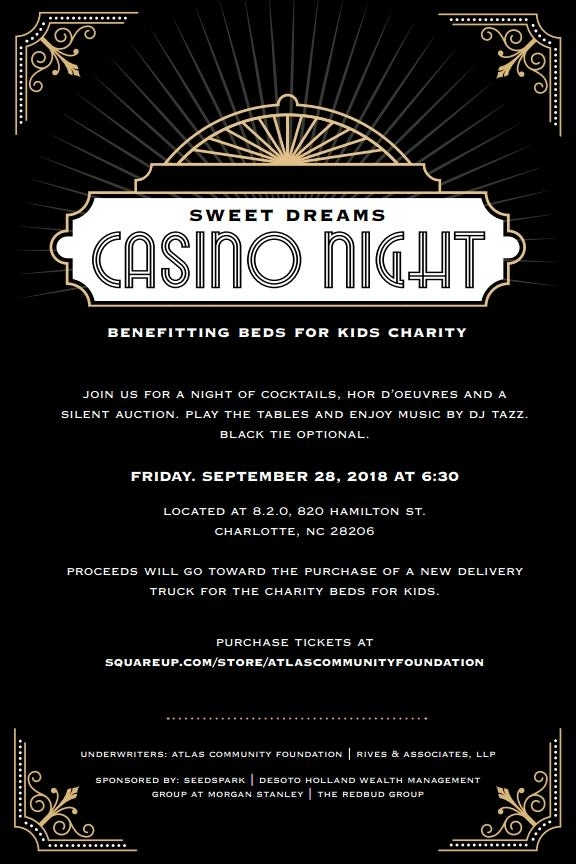 Sweet Dreams Casino Night Fundraiser to Benefit Beds for Kids