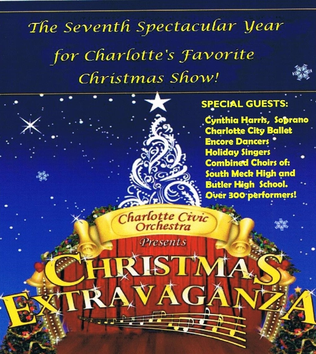 Christmas Show Charlotte.2018 Christmas Extravaganza From The Charlotte Civic Orchestra